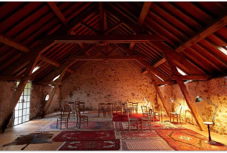 Raum zum Arbeiten bei THiLOs Schreibworkshops in Burgund